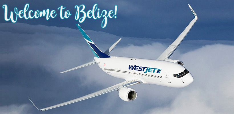 WestJet's direct flight to Belize from Calgary, Canada begins