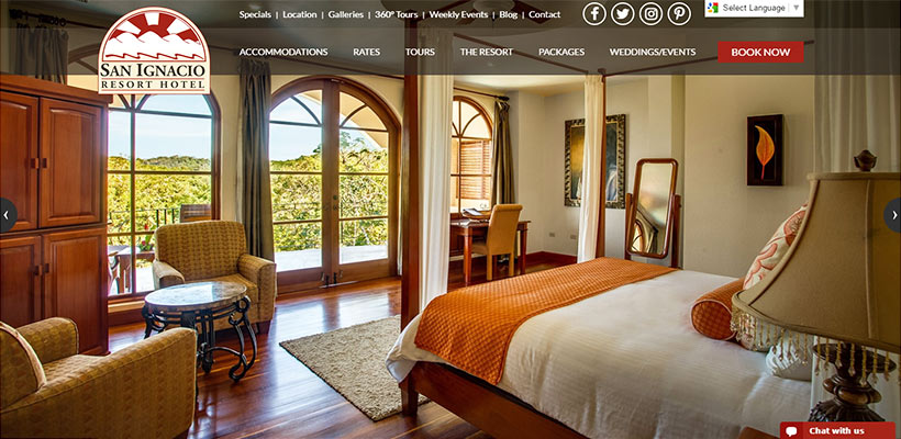 San Ignacio Resort Hotel in Belize Launches New Website