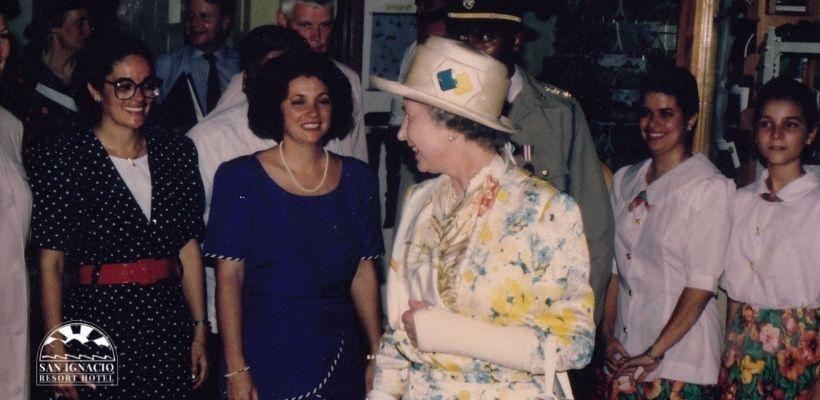 Queen Elizabeth in Belize